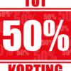 Poster tot 50% kortingposter