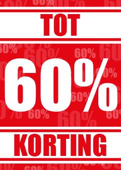 poster 60% korting raambiljetten
