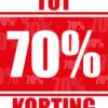 kortingposter percentage 70%