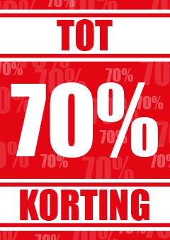 kortingposter percentage 70%