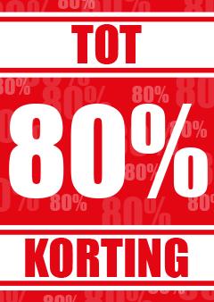 korting raamposter 80% korting