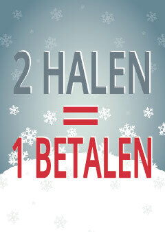 2 halen = 1 betalen wintersale poster