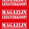 Magazijn leegverkoop poster