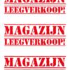 Magazijn leegverkoop posters