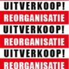 reogranisatie uitverkoop posters voor winkeliers