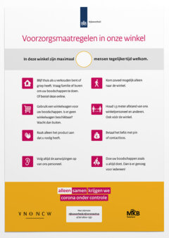 maatregelen corona poster voor winkels