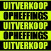 neon poster opheffings-uitverkoop
