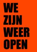 Poster we zijn weer open retail