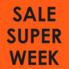 neon raamposter super sale week 70% korting