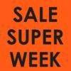 neon raamposter super sale week 70% korting