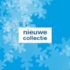 Raamposter voor winkeleigenaren met de tekst nieuwe collectie