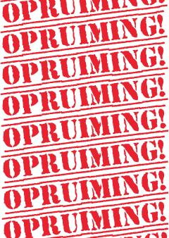 poster opruiming etalage