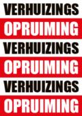 Verhuizings opruiming poster