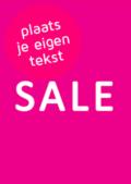 sale poster met eigen tekst
