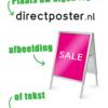 Poster eigen logo tekst of afbeelding