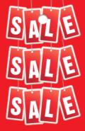 prijskaartjes met de tekst sale voor retailers