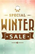 Prijskaartjes Winter sale met of zonder gaatje retail kaartjes