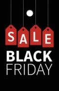 black friday prijskaartje label voor winkeliers