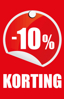 prijskaartje 10% korting