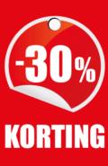 prijskaartje 30% korting
