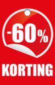 prijskaartje 60% korting