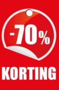prijskaartje 70% korting