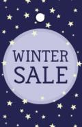 Prijslabel Winter Sale