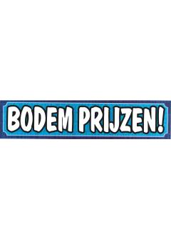 Sale banner Bodem prijzen