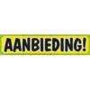 Banner met de tekst: AANBIEDING!