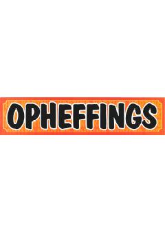 Opheffings banner voor winkel