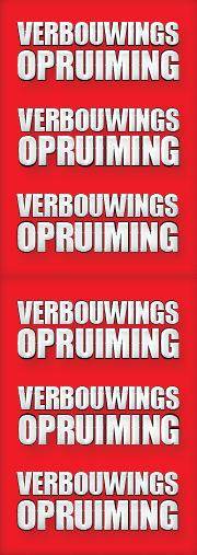 verbouwings opruiming sale banner