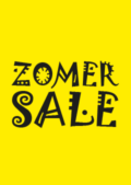 zomersale raamposter