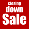 Raamposter Closing Down Sale