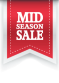 Mid Season Sale poster voor retail