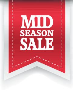Mid Season Sale poster voor retail