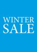 Blauwe winter-sale posters voor winkeliers