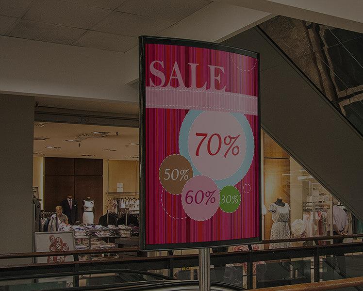 raamposters sale winkeletalage