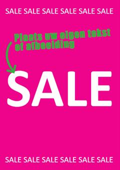 Sale poster met eigen tekst of afbeelding
