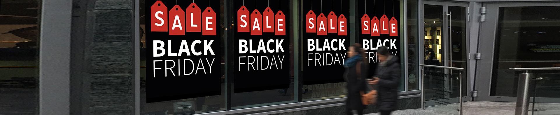 black friday sale posters en raambiljetten