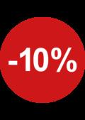 sale sticker rond 10% retailers