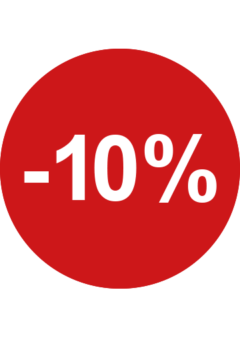sale sticker rond 10% retailers