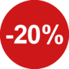 20% procent sticker raamstickers