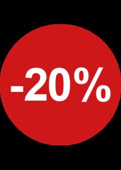 20% procent sticker raamstickers