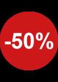 sale sticker rond 50% kortingssticker
