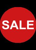 Rode sticker SALE voor winkeliers