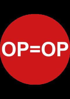 OP=OP sticker rond