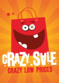 Saleposter crazy sale