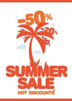 Raamposter summersale