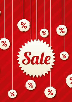 Sale-poster kortingpercentages