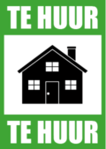 Te Huur poster voor vastgoedmakelaar